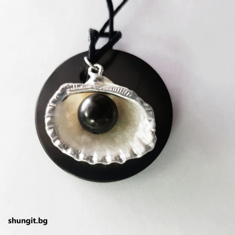 "Медальон от шунгит "" Черната перла"""