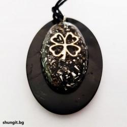 "Медальон от шунгит с оргонит "" Късмет"""