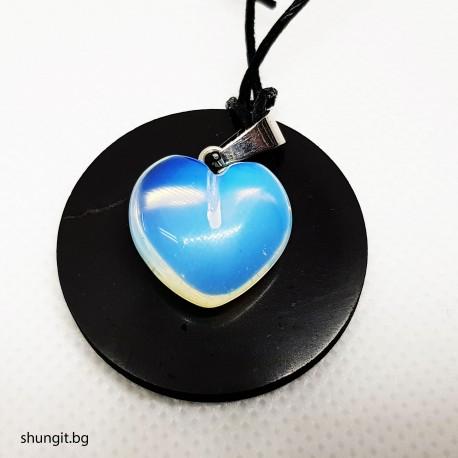 Медальон от шунгит и лунен камък