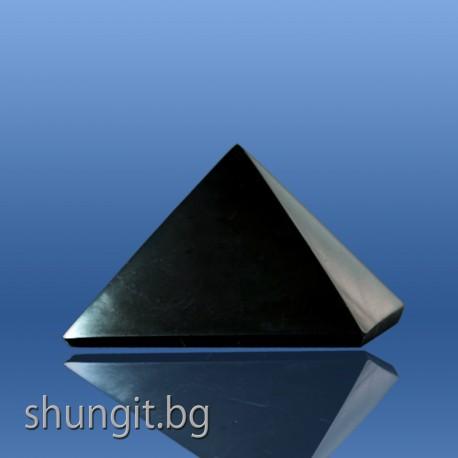 Пирамида от шунгит 4x4 см(полирана)
