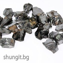 Елит шунгит- малки естествени късове с общо тегло 100 грама подходящи за вода и вана.