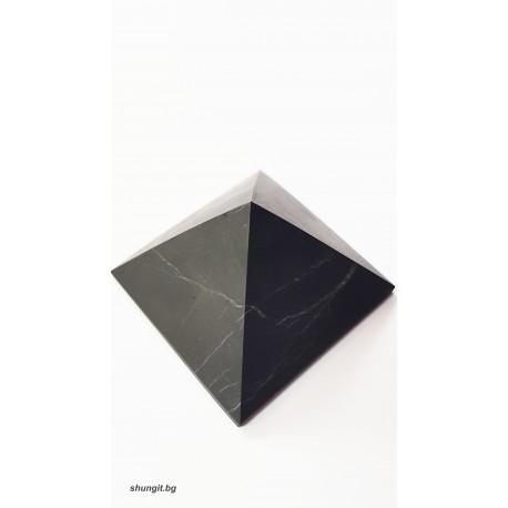 Пирамида от шунгит 5x5 см.(неполирана),подходяща за вода