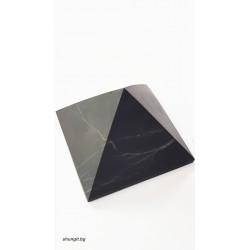 Пирамида от шунгит 8x8см.(неполирана)