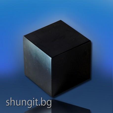 Полиран куб от шунгит 6x6 см.