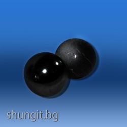 Хармонизиращи сфери 35мм от шунгит  и талкохлорид(стеатит)