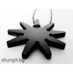 "Медальон от шунгит ""Звезда"""